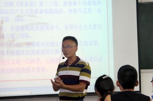 刘晓东校长到马克思主义学院听课调研图片