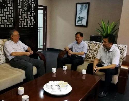 校党委书记赵伟,校长刘晓东拜访中国工程院李圭白院士图片